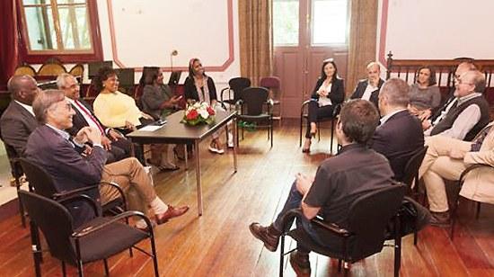 Visita da delegação do Ministério da Cultura de Angola